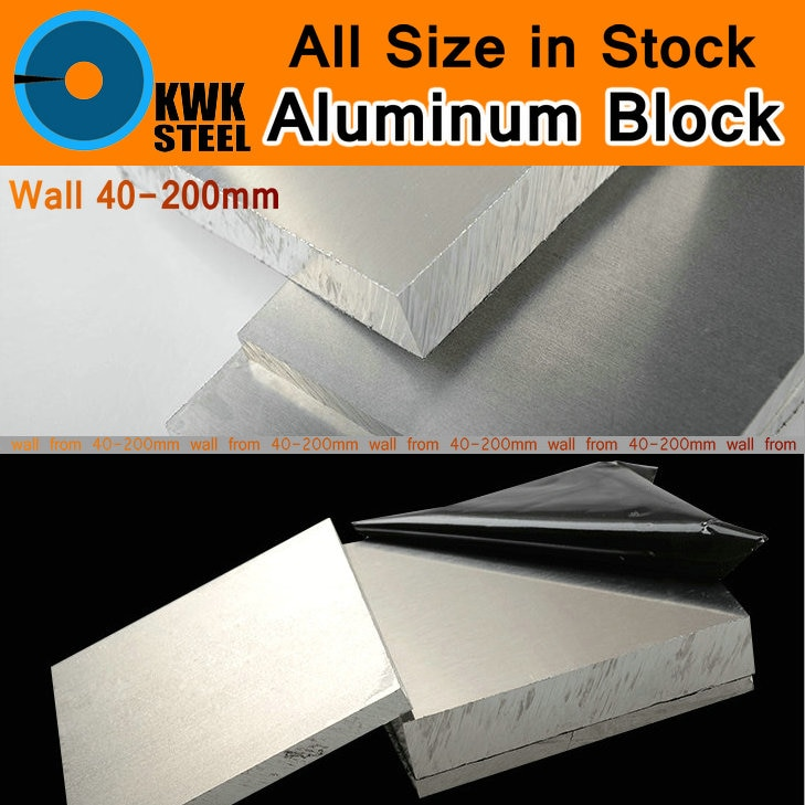 Bloque de aleación de aluminio 6061 placa de aluminio hoja de pared pesada barra DIY molde de material piezas de coche Metal para máquina de vehículos