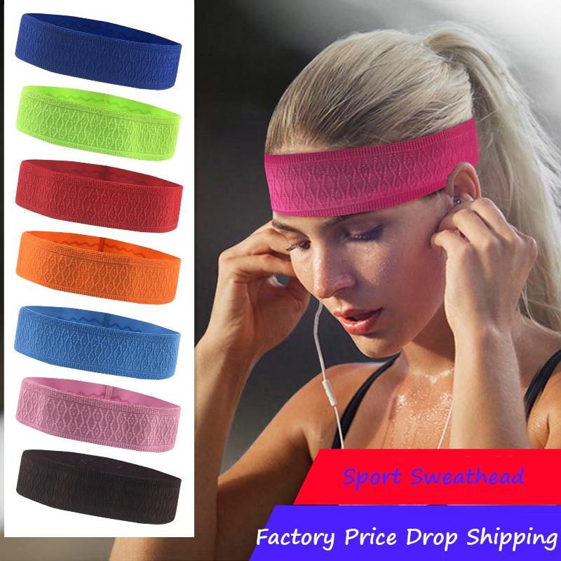 Befusy esporte bandana cabeça das mulheres dos homens suor banda corrida futebol tênis headscarf silicone anti-deslizamento elástico sweatband ginásio hairband