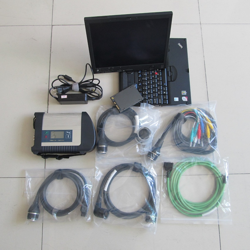 Mb star c4 sd conectar wifi con ssd super 2020,06 Nuevo software portátil x200t pantalla táctil para 12v 24v escáner de diagnóstico