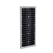 Kostenloser Versand Tragbare Solar Panel 12v 20W Placa Solar Energy Panel Zonnepanelen Solar Batterie Ladegerät Caravan Camping Auto
