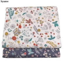 Syunss Diy Patchwork Cloth For Quilting Baby Cribs Cushions Dress tilda Sewing Tissus Color Floral P