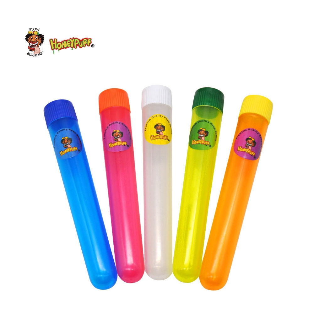 12 pçs plástico king tamanho doob tubo 115mm tubo à prova de cheiro hermético à prova dairágua odor cigarro sólido armazenamento recipiente de vedação