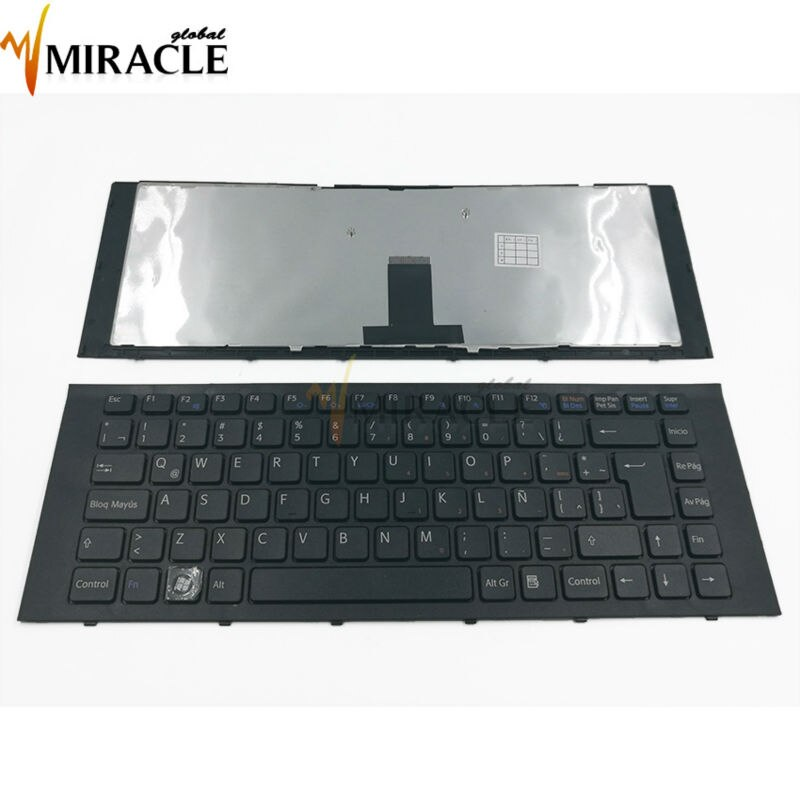 Новая латинская клавиатура для SONY VPC-EG VPC EG VPCEG SP LA, черная клавиатура для ноутбука с рамкой