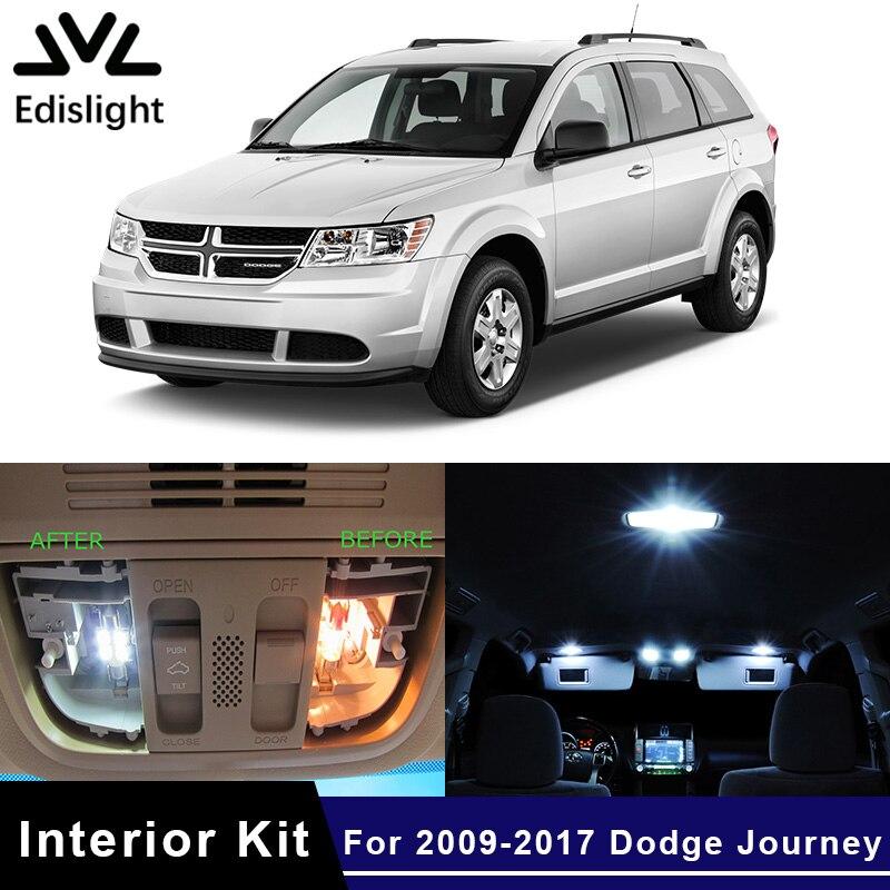 Edislight-ampoules de voiture bleu glace   Blanc, Canbus 2009, ampoules de voiture, Kit dintérieur pour Dodge 2017-, carte de voyage, dôme et coffre-fort, 10 pièces