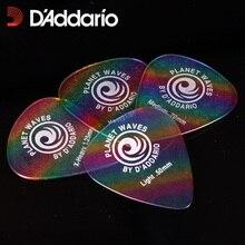 Pics de guitare celluloïd classique DAddario-arc-en-ciel, vente par 1 pièce