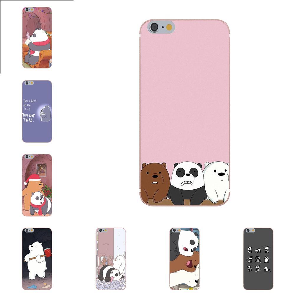 Oedmeb para xiaomi redmi mi Note 7 8 9 SE Pro Lite Go Play suave nuevo a la moda pelamos Oso de hielo Panda blanco