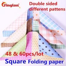 Mélange de papier origami, papier pliant fait main, pailles différentes face, mélange de fleurs, points, couleur du papier, bricolage, grues en papier carré, origami
