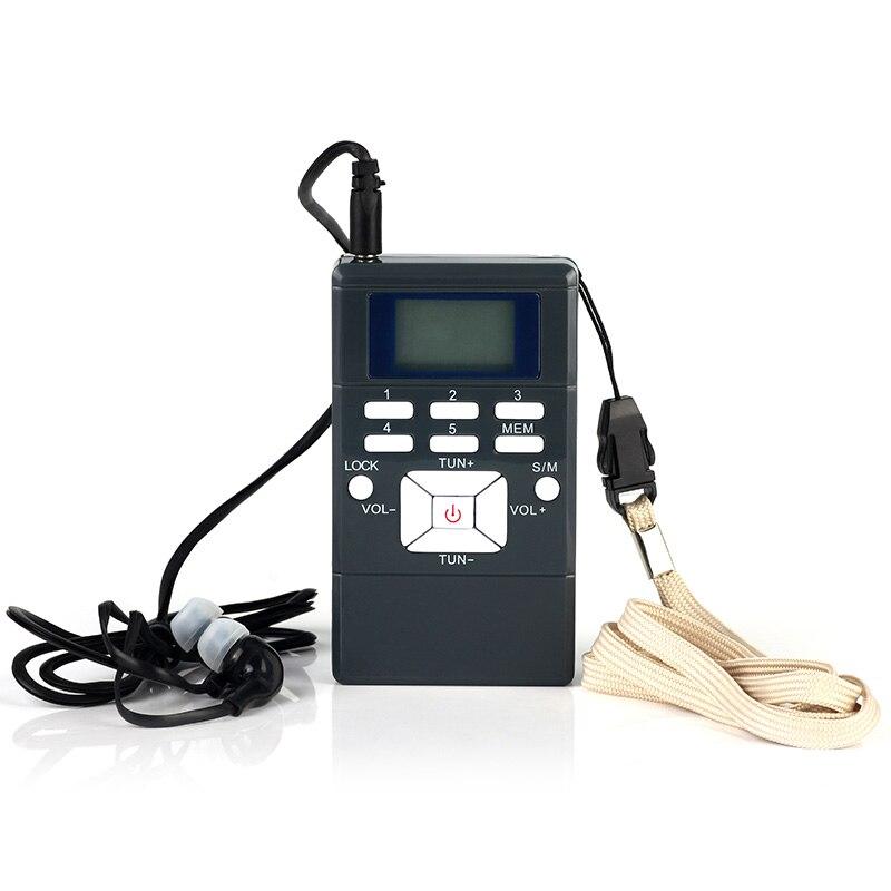 Radio FM Digital, Mini altavoz, receptor portátil, pantalla de doble canal, reproductor de banda de música individual, pantalla LED, Kit de antena integrada