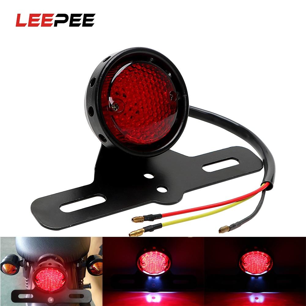 Светодиодный задний стоп-светильник для мотоцикла, аксессуары для мотоцикла, DC 12 В, кафе, Racer, мото задний светильник, s лампы