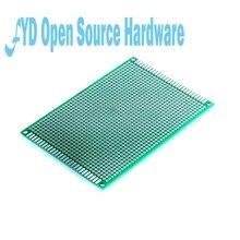 5 pçs/lote 8x12 cm protótipo lateral duplo universal placa pcb fibra de vidro material 1.6mm