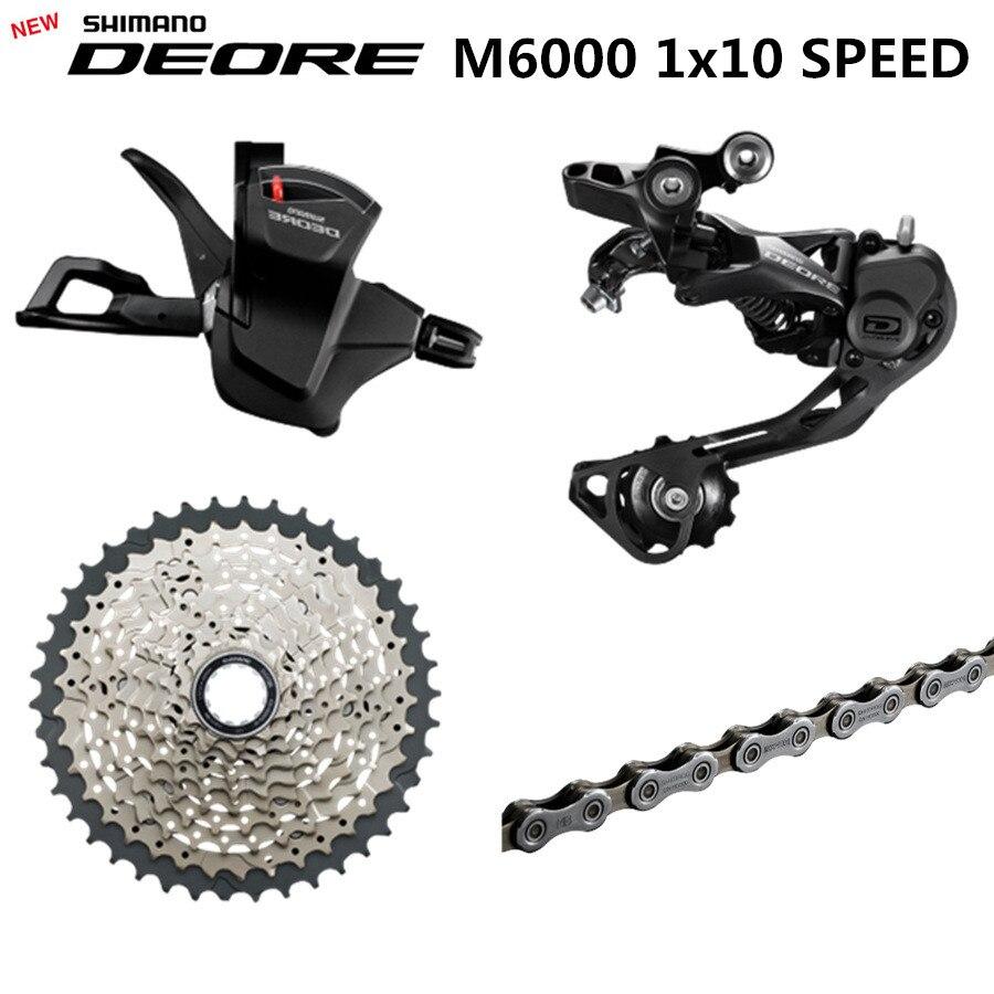 SHIMANO DEORE M6000 Groupset MTB הרי אופני Groupset 1x10-Speed 11-42T M6000 אחורי הילוכים משמרת מנוף