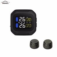 Original Engine Tire Pressure Monitoring System Wireless TPMS Motorcycle Tire Alarm 2 External Sensor Moto Tools