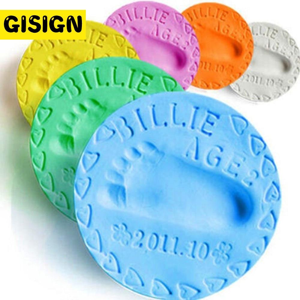 Bébé Handprint Slime doux pâte à modeler séchage à lair jouer argile légère jouets polymère pâte à modeler empreinte empreinte Kit bricolage jouet