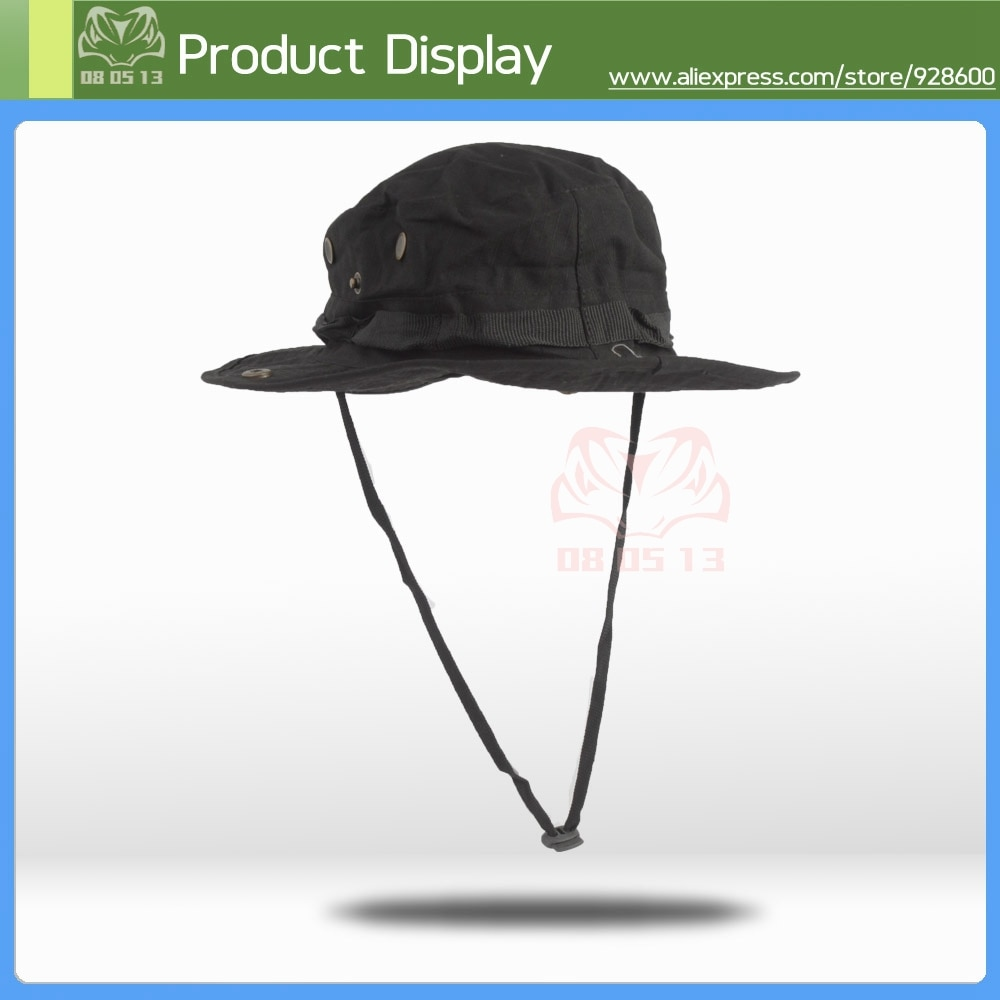HAN salvaje al aire libre militar BONNIE táctica sombreros de ala ancha sol gorra de caza