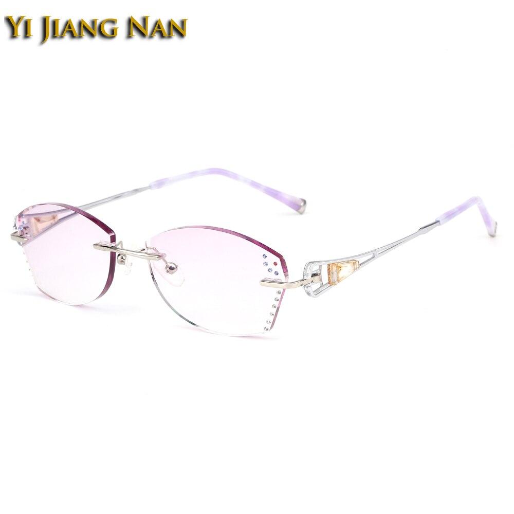 Monturas de titanio con diamantes, monturas para gafas con monturas para gafas, moda para mujer, Dioptr occhiali da vista