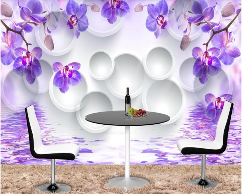 Beibehang personalizado habitación de lujo sala de estar Caballero orquídea TV Fondo papel de parede 3d papel peint foto paredes mural