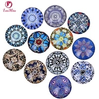 24pcs 12 20mm fashion pattern flowers mixed all in paris photo glass cabochons glass diy cabochon beads jewelry fittings