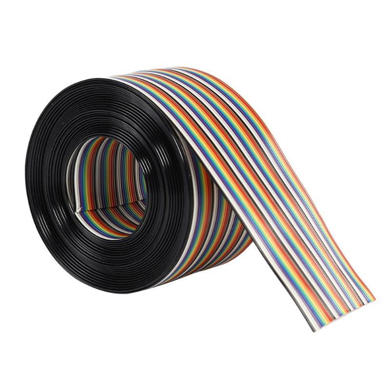 20 P/40 P Way Pitch Fio Cabo de Fita Plana Cabo de 1.27mm de Espaçamento Rainbow para PCB de Alta Quility color Rainbow Ribbon Cable