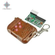 IC2262/2272 Kits de télécommande sans fil 4 canaux télécommande sans fil 4 touches 433MHZ
