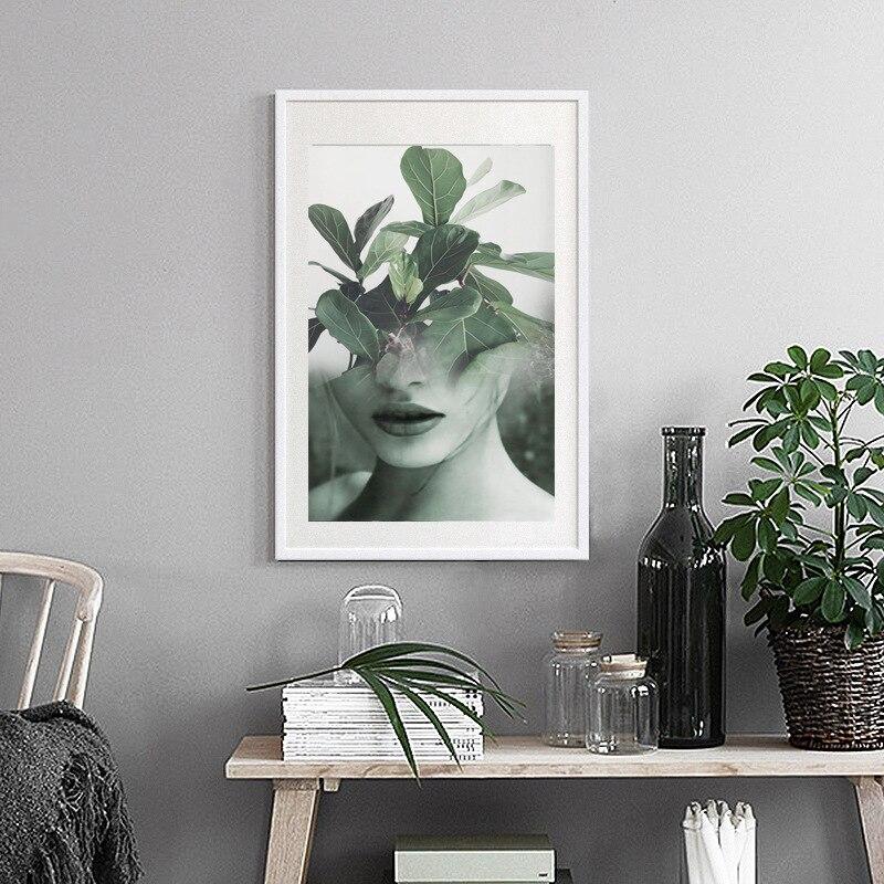 Póster de lienzo abstracto para mujer sexi, póster nórdico, dibujo de belleza para chica, sala de estar de pared para imágenes artísticas, carteles e impresiones HD