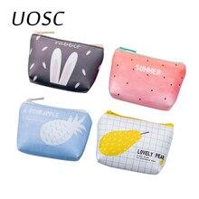 UOSC été nouvelle marque sacs à main en cuir petit décontracté Pu porte-monnaie dame mode Fruits modèle dessin animé Dollar argent sac