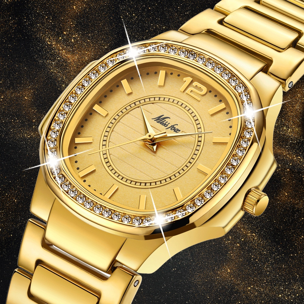 CZ Diamond Woman Watch Casual Gold Fashion Patek Women Watches Top Brand Luxury Female Golden Clock Waterproof Quartz Wristwatch enlarge