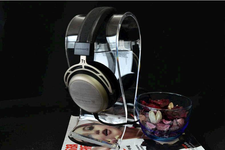 새로운 게임용 헤드셋 헤드폰 이어폰 랙 투명 아크릴 헤드셋 홀더 크리스탈 이어폰 스탠드 pc 컴퓨터 용