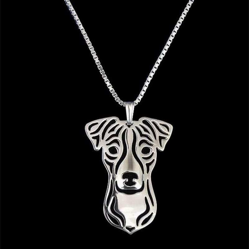 Новые женские ювелирные изделия из сплава Джек Рассел терьер, посеребренные Подвески для собак, ожерелья для влюбленных, розничная продажа