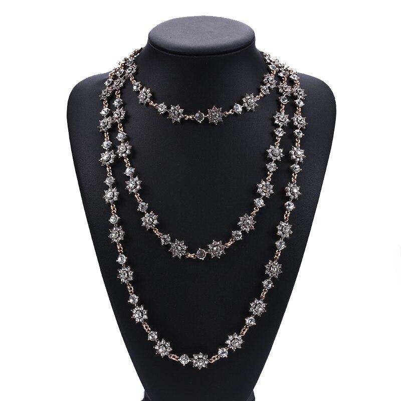 Винтажное многослойное ожерелье, женское длинное ожерелье с искусственным жемчугом и цепочкой