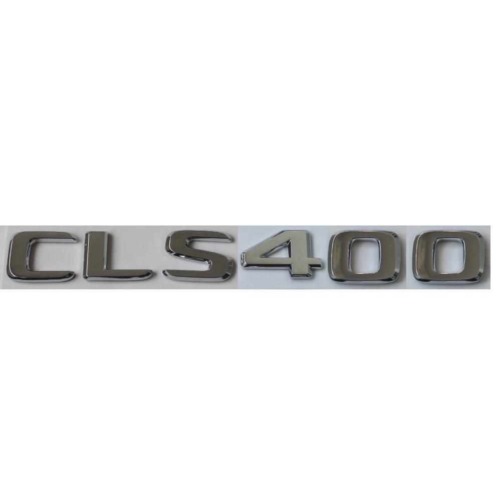 Liso chrome abs tronco traseiro letras emblemas emblema emblema emblemas etiqueta para mercedes benz cls classe cls400 2017 -2019