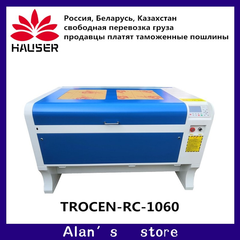 Máquina grabadora láser 1060 RECI W2 100w, máquina cortadora láser de Co2 de 1000x600mm, interfaz USB de 110V/220V, envío gratuito