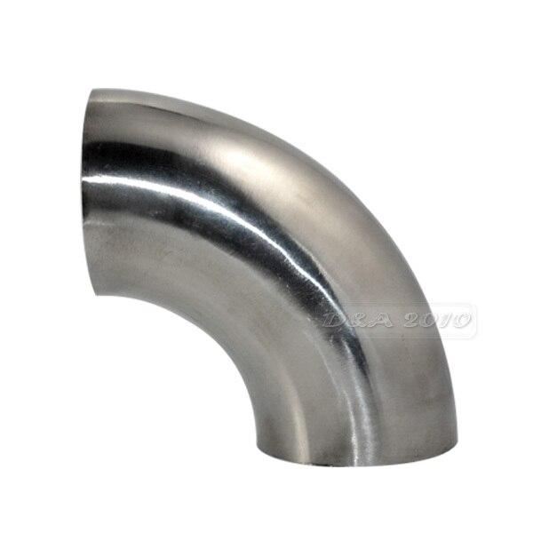 """Codo de soldadura sanitaria FGHGF 51MM 2 """"OD 90 grados accesorios de tubería de acero inoxidable SUS SS316"""