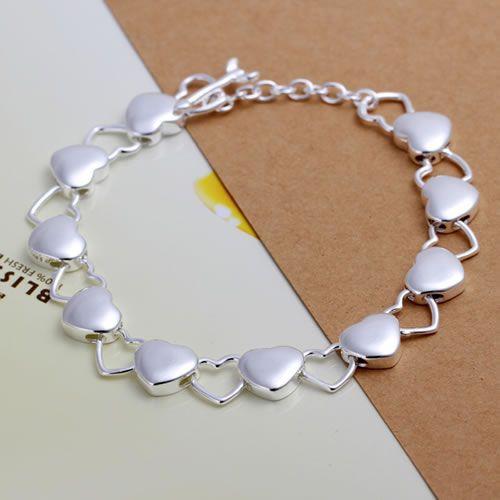 H192 pulsera con envío gratis, envío gratis, joyería de moda, pulsera lisa y hueca/aypajpwa avdajmka color plata