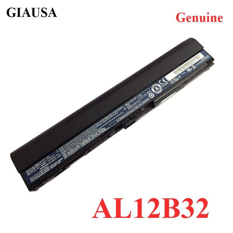 GIAUSA de AL12B32 batería del ordenador portátil para Acer Aspire 756 725 V5-171 V5-121 V5-131 B113M AL12B72 AL12B31