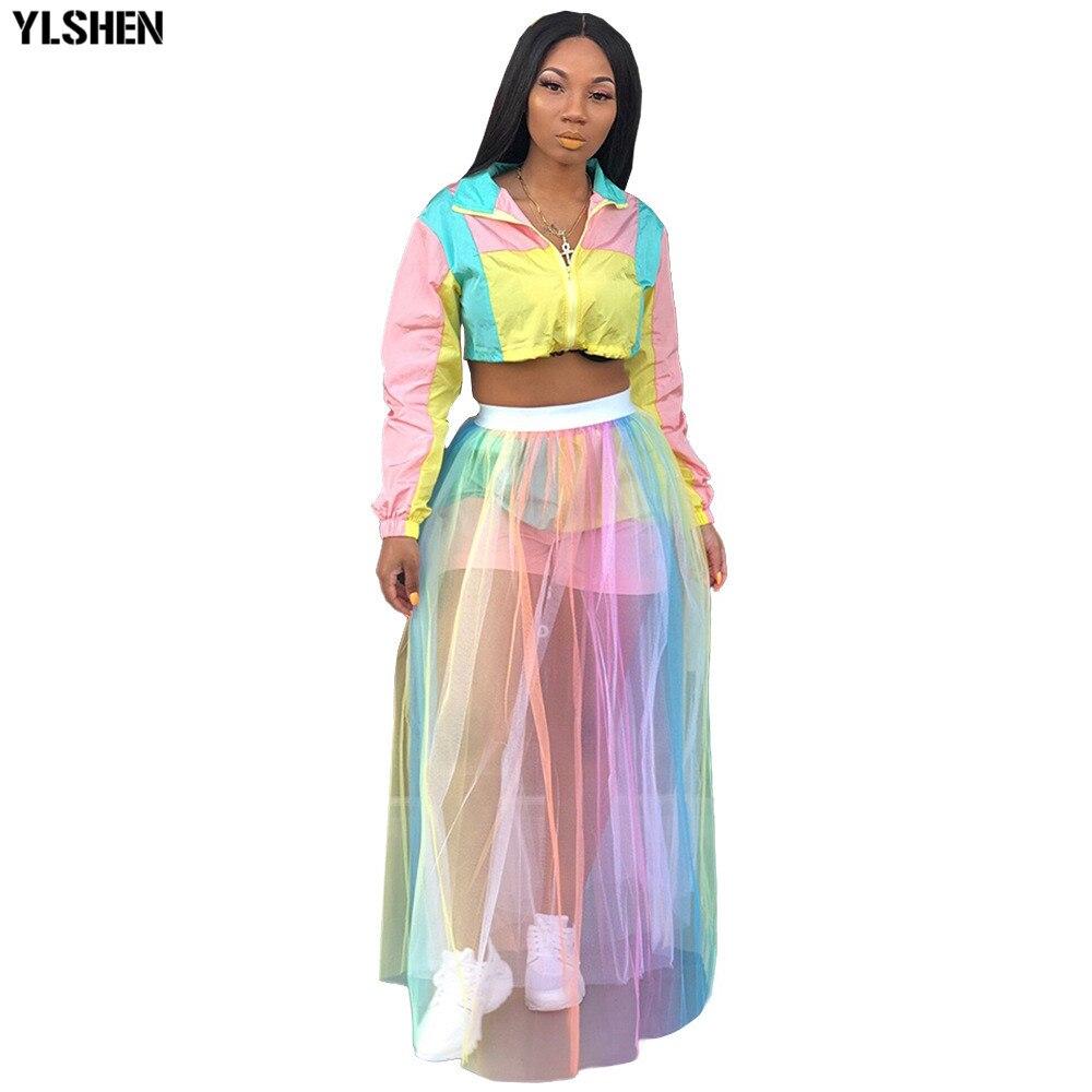 Vestidos africanos para mujer, ropa africana, estampado de la falda Dashiki de malla de arco iris de África, ropa de mujer, vestido de talla grande