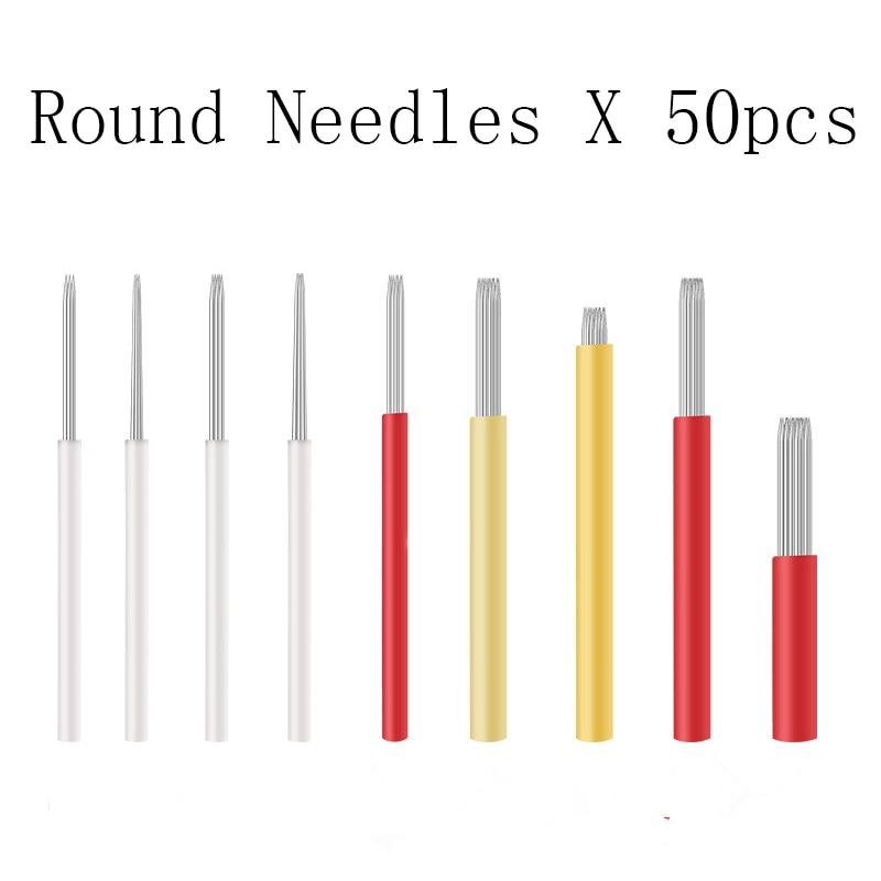 Round Fog Microblading Needles for manual eyebrow tattoo pen