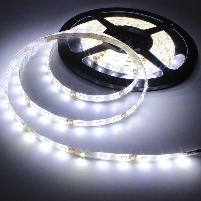 Blanco LED 300 LED DC 12V 5M 3528 SMD LED Luz de tira coche nuevo