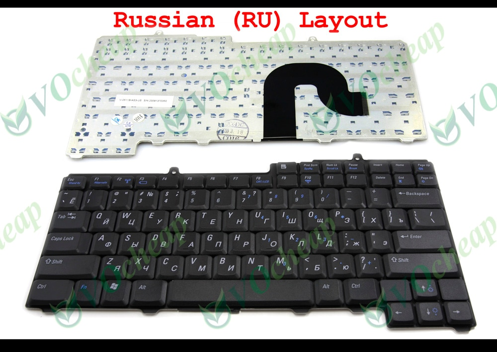 Nuevo teclado RU para ordenador portátil Dell Inspiron 1300 B120 B130 Latitude 120, 1501 630M 6400 E1405 E1505 Vostro 1000 XPS M1710 ruso