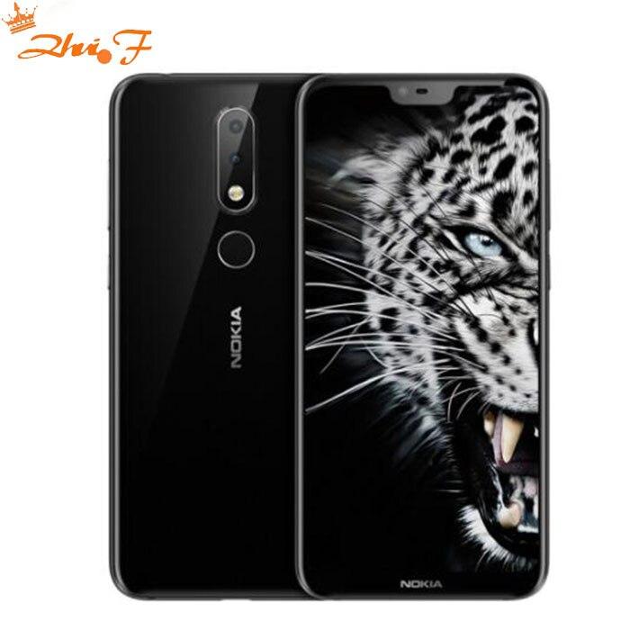 Nokia X6 2018 smart phone Android one 3060mAh 16.0MP 3 Camera Dual Sim LTE Fingerprint 5.8 inch Octa