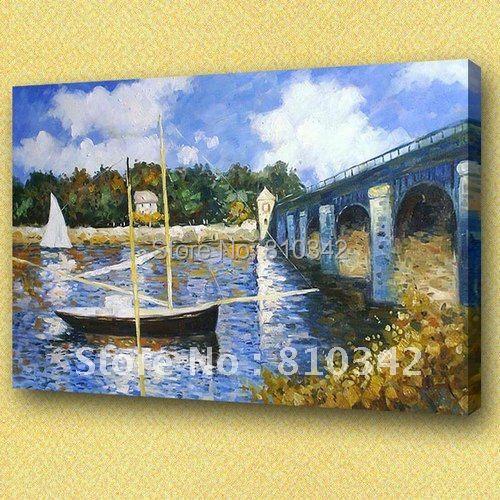 Claude Monet oil paintings,ornament, hand oil painting,reproduction,handicraft Monet09