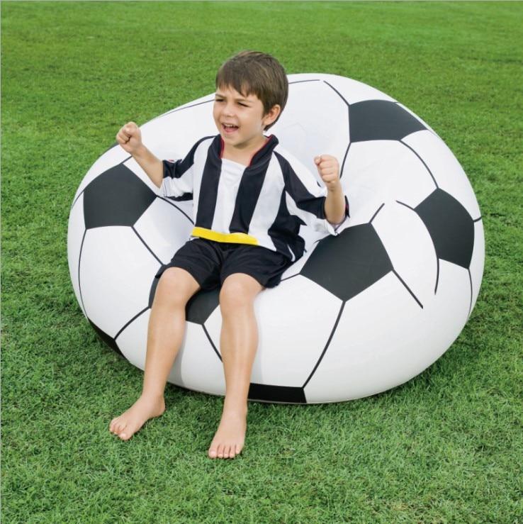 "75010 Bestway 1.14mx1.12mx66cm Beanless Soccer Ball Chair 45""x44""x26"" Inflatable Football Chair Soccer Ball Air Sofa for Single"