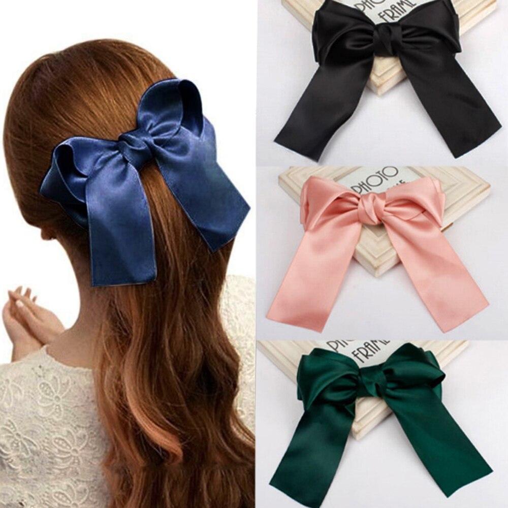 Coreano nuevo de moda cinta grande horquilla con lazo para el pelo para damas niñas accesorios para el cabello de moda pelo Clip Hairgrip