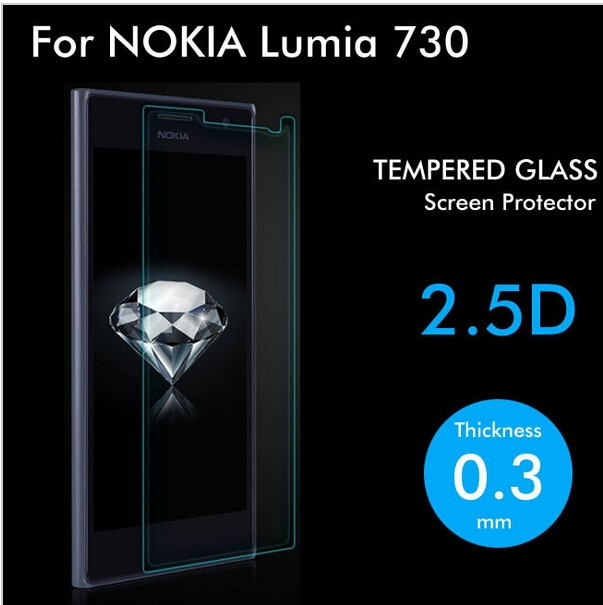 0.3mm 9H 2.5D Tempered Glass Screen Protector For Microsoft Nokia Lumia 730 735 protective film for