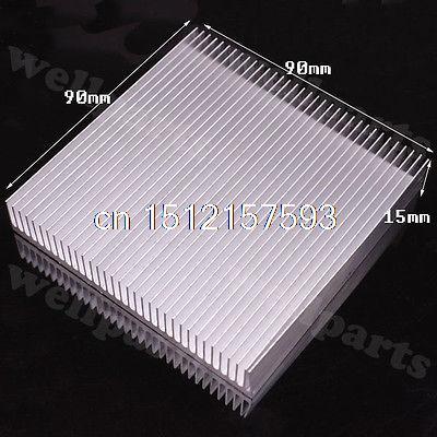 5 sztuk 90x90x15mm wysokiej jakości aluminiowy radiator do LED tranzystor mocy IC H130