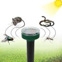 ITIMO Solar Power Ultrasonic Mole Repellent Snake Bird Mosquito Mouse Pest Repeller For Household Garden Yard Outdoor Garden