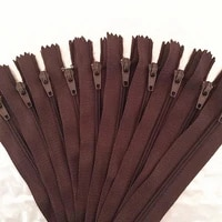 10pcs 20cm 8 inch coffee nylon coil zippers tailor sewer craft crafters fgdqrs