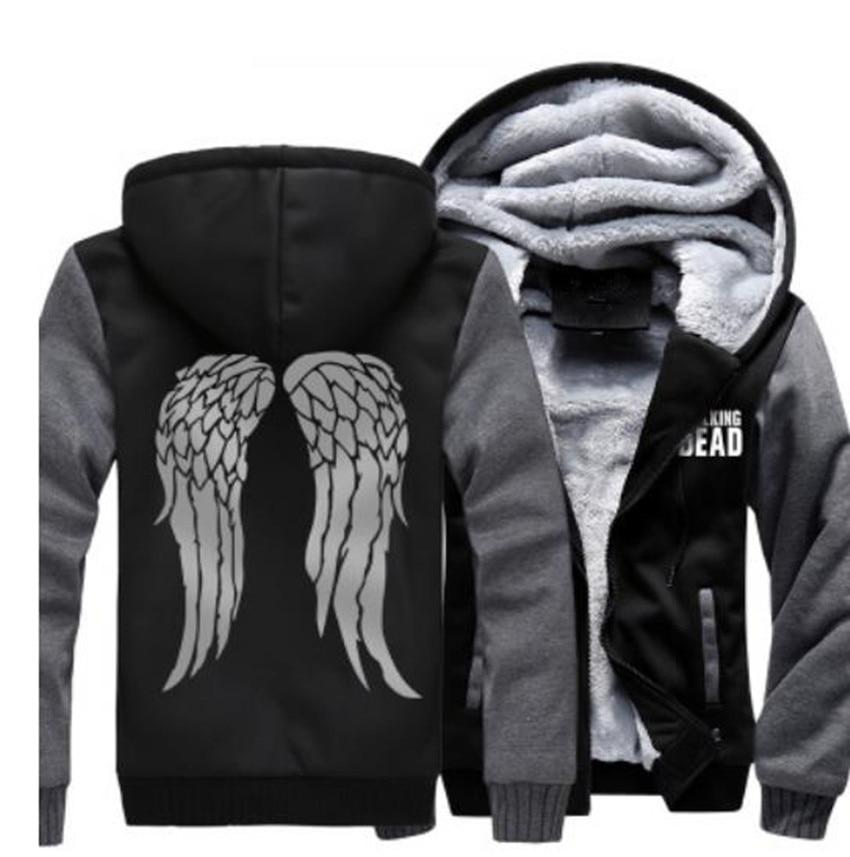 Die WALKING DEAD Verdicken Mantel Hoodie Zombie Daryl Dixon Flügel Fleece Sweatshirts MÄNNER FRAUEN Top Kleidung