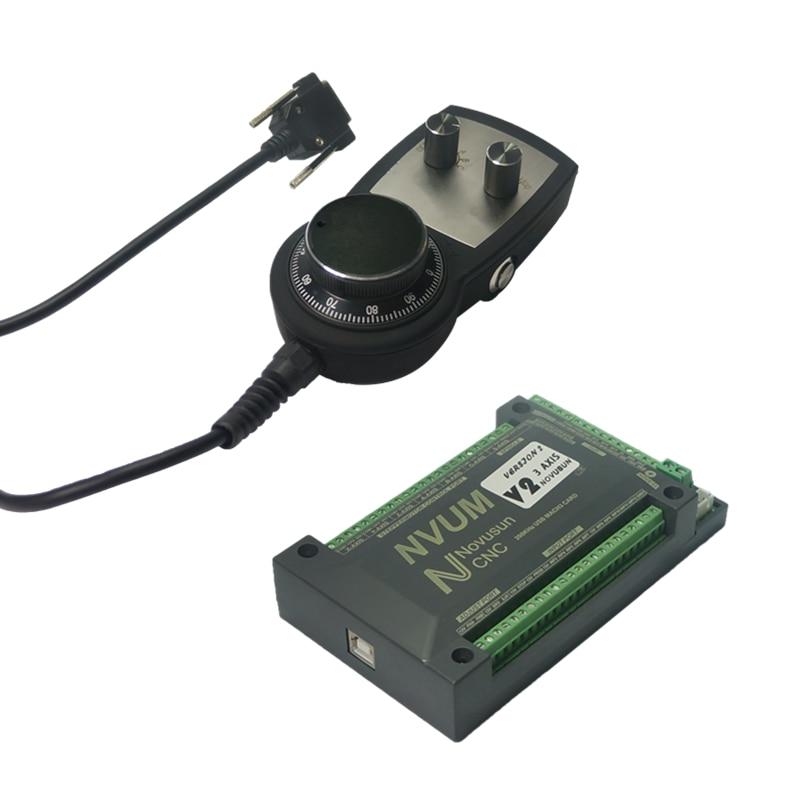 Mach3 handwheel pantalla digital manual de pulso CNC Tarjeta de Control de movimiento interfaz USB 3 ejes 4 ejes