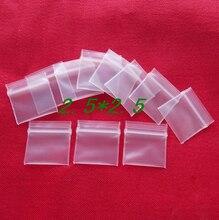 300pcs WxL:   2.5x2.5cm thickness 0.2mm PE zipper plastic transparent bag , zipper plastic bag , clear zipper packaging bags
