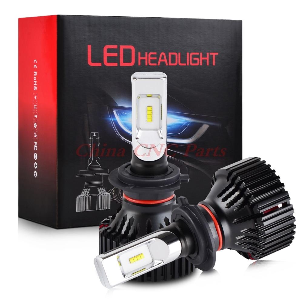 NICECNC T8 H4 H7 H8 H13 9004 9005 9006 9007 9012 светодиодный светильник, автомобильный светильник, лампы, комплект, проектор, противотуманный светильник, 30 Вт ...